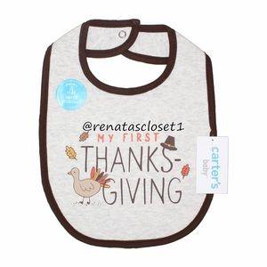 "Carter's Baby's ""My First Thanksgiving"" Bib NIP"